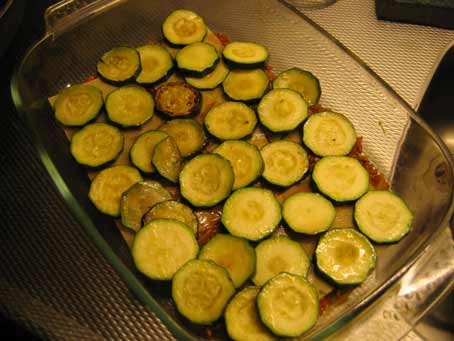 Courgetteplakjes